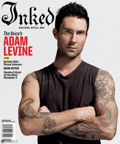 The Voice star and Maroon 5 frontman, Adam Levine, is covering the September 2012 issue ofInked magazine. Description from prettysweety.blogspot.com. I searched for this on bing.com/images