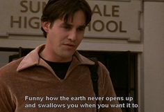 Xander (Nicholas Brendon) in Buffy The Vampire Slayer. I never could get the fuss about this show, but Xander is a truly memorable character.