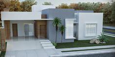 Vamos falar de casas quadradas! Esse é o termo popular para definir as fachadas com linhas retas, muitos vidros, sem telhado aparent... Flat Roof House, Facade House, House Front Design, Modern House Design, Modern Exterior, Exterior Design, Circle House, One Storey House, Independent House
