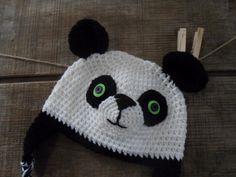 Panda Crochet Hat Beanie от thebluemagnolia на Etsy