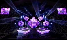 Diamond shaped screen