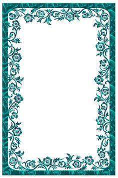 Large Turquoise Transparent Frame