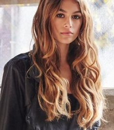 Kaia Gerber Models For Chrome Hearts 1 / 4 Kaia Gerber Chrome Hearts Credits: Marie Claire Cindy Crawford's 14 year-old daughter Kaia . Cindy Crawford Daughter, Undone Look, Kaia Gerber, Rande Gerber, Actrices Hollywood, Chrome Hearts, Auburn Hair, Pretty Face, Hair Inspiration