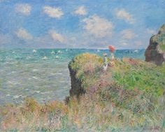 "Claude Monet (1840-1926), ""Cliff Walk at Pourville"" - The Art Institute of Chicago ~ Chicago, Illinois, USA"