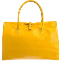 yellow!  Henry Cuir  Large Pin Up Bag