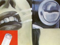James Rosenquist•Smoked Glass 1962•American POP Art Mural Painter POSTCARD