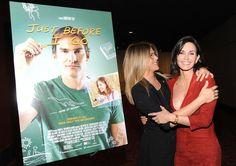 Courteney Cox e Jennifer Aniston se encontram em première