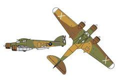 Savoia-Marchetti SM.79 Sparviero Bomber Free Aircraft Paper Model Download