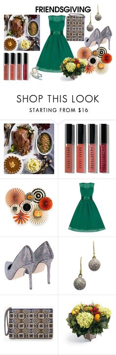 """""""FRIEDS GIVING"""" by sitirania ❤ liked on Polyvore featuring Williams-Sonoma, Bobbi Brown Cosmetics, Chico's, Frontgate, Alexis Bittar, Elegant, polyvoreeditorial, thanksgiving and friendgiving"""