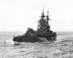 16 in battleship HMS Rodney - she did much of the fatal damage to Bismarck during the latter's final battle on 27 May Normandy Beach, Normandy France, Dazzle Camouflage, British Armed Forces, Big Guns, Navy Ships, Submarines, Aircraft Carrier, Model Ships
