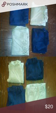 Boy Khaki Pants Blue Lot Size 8 Uniform School Boy Pants Size 8 2  khaki pants 1 blue pants 1 blue shorts Bottoms Casual