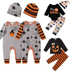 Cute Halloween Costume Newborn Infant Baby Boy Girl Kids 3 Stylish Str – eosegal Informations About Halloween Fashion, Halloween Kostüm, Halloween Outfits, Halloween Clothes, Newborn Halloween Costumes, Baby Costumes, Baby Girl Romper, Baby Boy Newborn, Baby Boy Outfits