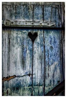aged door - denim blue