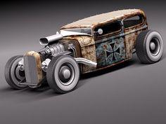 tudor 1929 ratrod rat 3d 3ds