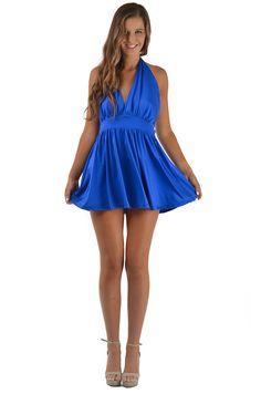 Blue Melody Dress www.peekaboofashion.com