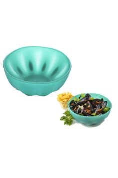 """The Aqua Melon Bowll is great for preparing and serving food. Microwave safe. 10.75"""" diameter x 4.5""""depth. Aqua Melon Bowl  by Charles Viancin. Home & Gifts - Home Decor - Dining - Dinnerware Kentucky"""