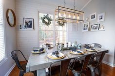 Repose Gray in dining room Luxury Apartments, Furniture, Apartment Living, Repose Gray, Interior, Furniture Direct, Table, Home Decor, Boys Furniture