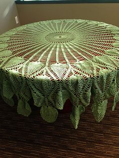 Ravelry: Peacock's Tail pattern by Coats & Clark Crochet Tablecloth Pattern, Floral Tablecloth, Pineapple Squares, Peacock Tail, Pineapple Crochet, Thread Crochet, Doilies, Ravelry, Coats