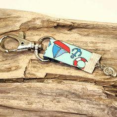 Sommerlicher,maritimer Schlüssel-oder Taschenanhänger