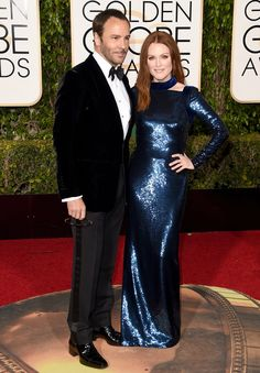 1.10.16  Tom Ford and Julianne Moore, in his design w/ Chopard jewelry at Golden Globe Awards