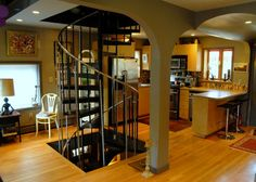Those stairs go right down to the cellar! Very cool!