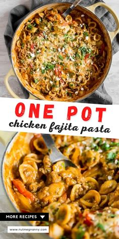 This one pot ground chicken fajita pasta is the perfect busy weeknight rush dinner. Ground chicken paired with warm spices, onions, peppers, creamy sour cream, and of course - CHEESE! You'll love how easy this dish is to make and it's only one pot! Ground Chicken Recipes, Chicken Fajita Recipe, Chicken Pasta Recipes, Chicken Fajitas, Fancy Dinner Recipes, Delicious Dinner Recipes, Healthy Recipes, Healthy Meals, Easy Recipes