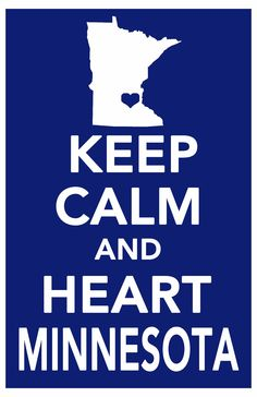 keep calm minnesota print art poster all 50 states in custom background colors 11x17. $14.99, via Etsy. @Sara O'Sullivan