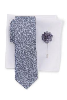 Park Floral Tie, Pocket Square, & Lapel Stick Pin Set by Ben Sherman on @nordstrom_rack