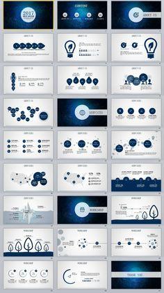 27+ slide Blue Best Creative PowerPoint Template