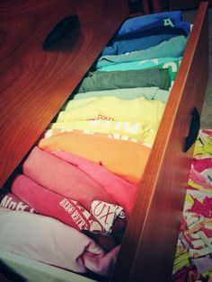 A drawer full of comfort colors is a drawer full of happiness. Looks just like my tshirt drawer! Preppy Southern, Southern Belle, Southern Prep, Southern Girls, Southern Comfort, Preppy Style, My Style, Im So Fancy, Sorority Life