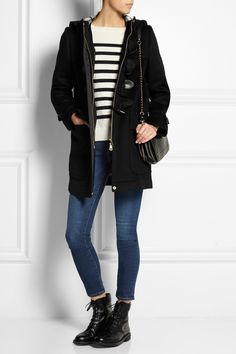 BURBERRY BRIT Leather-trimmed wool-felt duffle coat £581.88 http://www.net-a-porter.com/products/549761