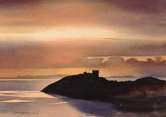 Cricieth Castle, Open Edition Print (Giclee) from an original watercolour painting by Rob Piercy