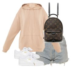 """""""Untitled #3920"""" by theeuropeancloset ❤ liked on Polyvore featuring Levi's, Puma and Louis Vuitton"""