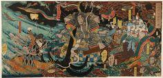 Yoshitsuya, The Defeated Generals of the Taira Clan at the Bottom of the Sea near Dan-no-Ura