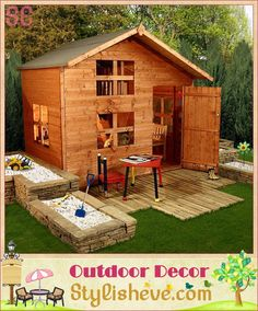 Luxury Outdoor Kids Playhouse