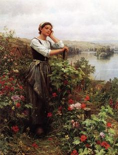 Daniel Ridgway Knight A Pensive Monent painting is shipped worldwide,including stretched canvas and framed art.This Daniel Ridgway Knight A Pensive Monent painting is available at custom size. Art Prints For Sale, Paintings For Sale, Oil Paintings, Albert Bierstadt, Knight Art, Oil Painting Reproductions, Classical Art, Beautiful Paintings, Female Art
