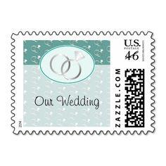 White Teal Seashell Wedding Thank You Sticker Wedding Nautical