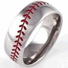 Baseball Wedding Ring | Baseball Wedding Band, Sports Wedding Rings - Titanium-Buzz.com