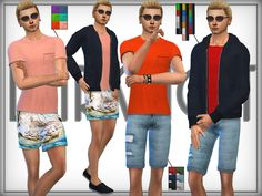 Discover and download the best clothing set for the Sims 4 - all available for free at the ultime Sims directory. SET 14 - Summer / Sport Fashion Set by DarkNighTt