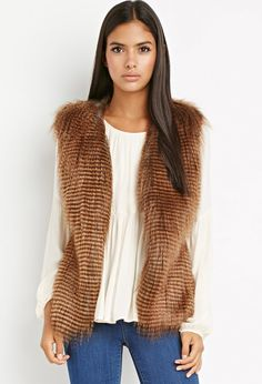 Forever 21 Faux Fur Vest available for $32.90