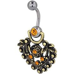 Pugster Mothers Day Gifts Orange And Gold Heart Dangle Gem Belly Button Ring Navel Piercing Bar Body Jewelry  http://electmejewellery.com/jewelry/pugster-mothers-day-gifts-orange-and-gold-heart-dangle-gem-belly-button-ring-navel-piercing-bar-body-jewelry-ca/