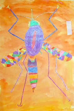 Fourth Grade Art Lesson 10 | Looking at Insects Part 2 Water Coloring Our Insect Background