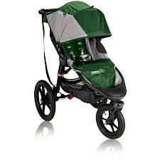 This is a sleek looking baby jogger stroller. A unique feature of this jogger/stroller is a swivel lock on the handlebar that is used to lock the front wheel straight while you are jogging. Or, set it to swivel mode for walking without having to stop the stroller.  Baby Jogger Summit X3 Single Stroller, Green |