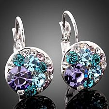 Periwinkle Drop Earrings with Swarovski Elements