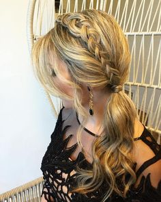 Side Ponytail With A Braid
