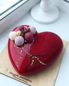 Beautiful Cake Designs, Beautiful Cakes, Amazing Cakes, Heart Shaped Cakes, Heart Cakes, Gourmet Desserts, Fancy Desserts, Cake Designs For Girl, Cake For Husband