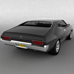 Ford AUS Falcon XB 351 GT Coupe 1973 Model available on Turbo Squid, the world's leading provider of digital models for visualization, films, television, and games. Australian Muscle Cars, Aussie Muscle Cars, American Muscle Cars, Ford Falcon, Mad Max, Ford Torino, Old School Cars, Ford Classic Cars, Ford Fairlane