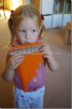 DIY Zamponas - a South American Instrument made by Toddler, Preschool, and Homeschooler