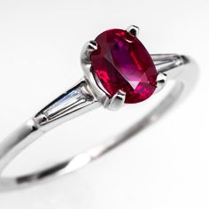 Vintage Natural Ruby Engagement Ring
