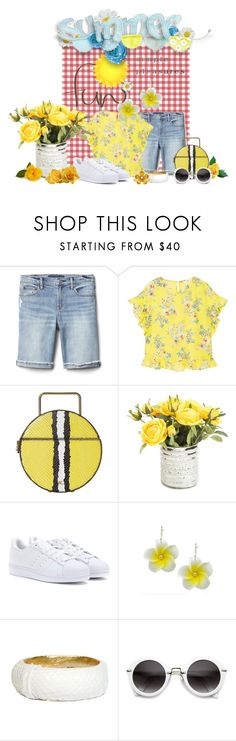 """""""SUMMER FUN ... Picking Flowers In My Yard ... Simple Pleasures !!"""" by fashiongirl-26 ❤ liked on Polyvore featuring Gap, MANGO, Rachel Comey, adidas, Ted Rossi and David Tutera"""